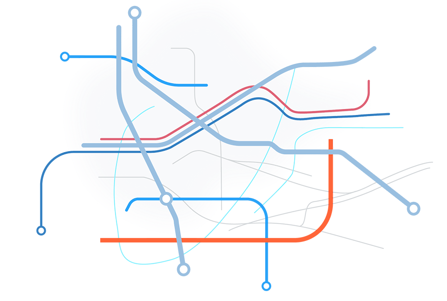 Illustration of geographic lines